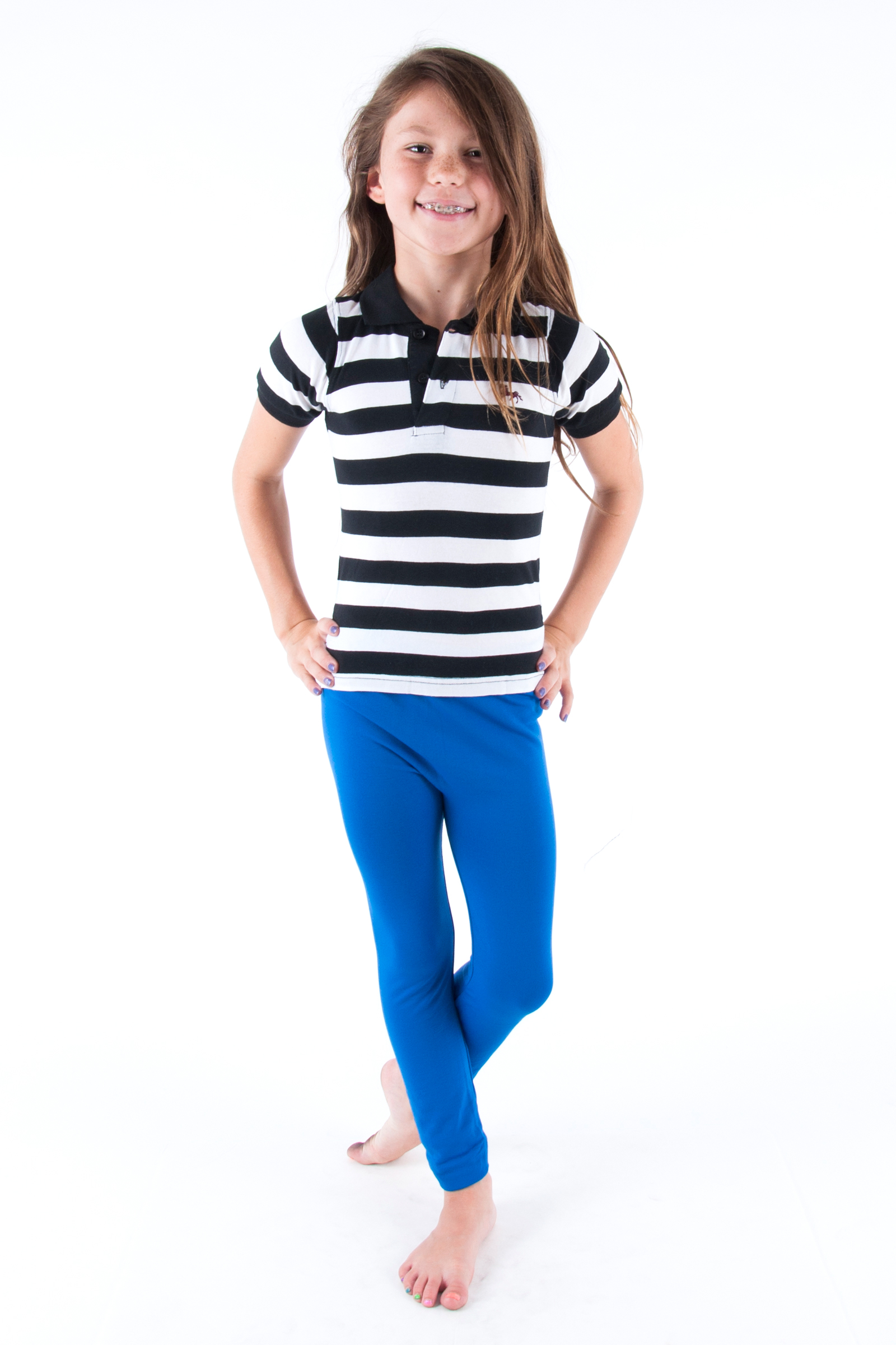 Kids Blue Leggings Hardon Clothes